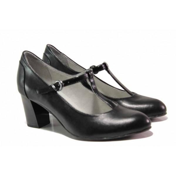 Немски обувки на ток; 100% комфорт; изцяло естествена кожа; изключително леки / Jana 8-24492-24 черен / MES.BG