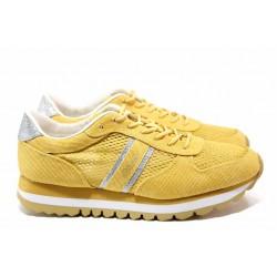 Немски спортни обувки; изключително леко ходило; стелка - ''мемори'' пяна; връзки / S.Oliver 5-23699-24 жълт / MES.BG