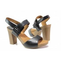 Немски дамски сандали; удобно закопчаване - катарама; 100% комфорт / Caprice 9-28320-24 черен / MES.BG