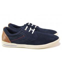 Немски спортни обувки; естествен велур; гъвкаво ходило; връзки / S.Oliver 5-13605-24 син / MES.BG
