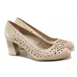 Анатомични дамски обувки; естествена кожа с нежни прорези; еластично ходило / Jana 8-22491-24 розов / MES.BG