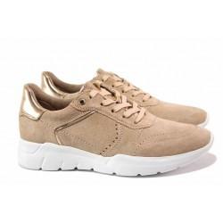Немски спортни обувки; естествен велур; олекотено ходил; за H крак / Jana 8-23729-24 розов-злато / MES.BG