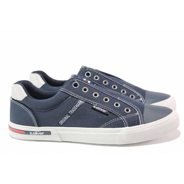 Немски спортни обувки за лятото ; без връзки; еластично ходило / S.Oliver 5-14603-24 син / MES.BG