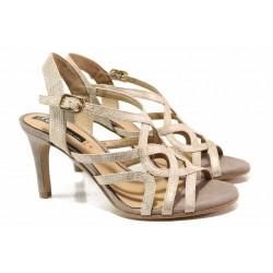 Дамски елегантни сандали; плавна извивка; ''мемори'' пяна / S.Oliver 5-28341-24 златен / MES.BG