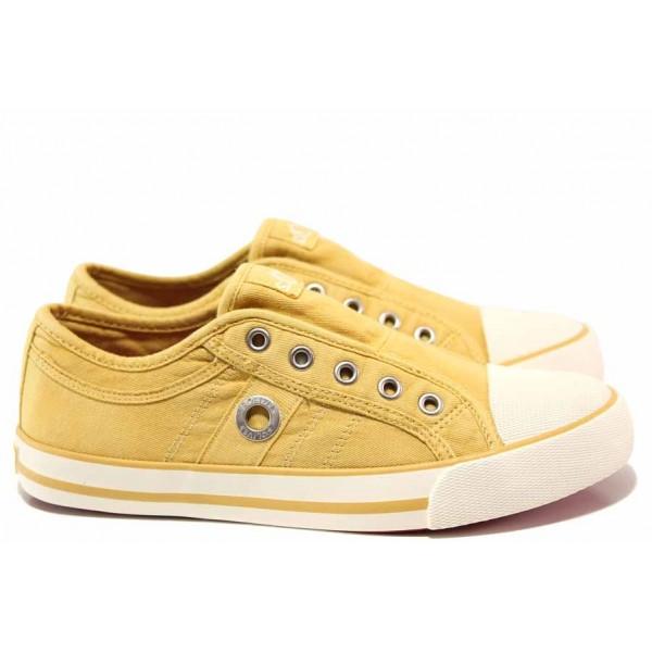 Немски спортни обувки, текстил, мемори пяна в стелката, ластик / S.Oliver 5-24635-24 жълт / MES.BG