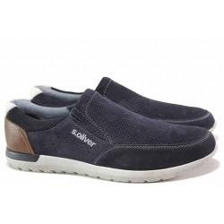 Спортни немски обувки, дишащи, еластични, ANTISHOKK ходило / S.Oliver 5-14607-24 син / MES.BG