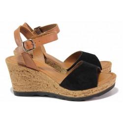 Немски сандали, комфортно ходило, плавна извивка, каишки с удобно закопчаване - катарама / S.Oliver 5-28325-24 черен / MES.BG