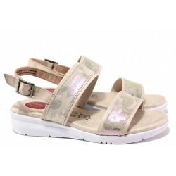 Анатомични немски сандали на Jana, естествена кожа, леки, анатомични, гъвкави / Jana 8-28206-24 бежов-роза / MES.BG