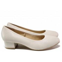 """Обувки от немски производите, естествена кожа, плавна извивка, леко ходило, """"дишаща"""" стелка от естествена кожа / Caprice 9-22300-24 бял / MES.BG"""