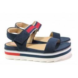 Дамски сандали от S.Oliver, удобна платформа, велкро лепенки / S.Oliver 5-28204-24 син / MES.BG