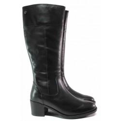 Немски дамски ботуши от естествена кожа, стабилен ток, излято ходило / Caprice 9-25551-25G черен / MES.BG
