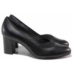 Немски дамски обувки с ластик, естествена кожа, анатомични / Jana 8-22480-25 черен / MES.BG