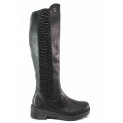 Дамски ботуши, естествена кожа, ANTISTRESS система, разтегливи на ширина / Rieker X0554-00 черен / MES.BG