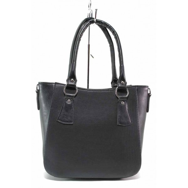 Стилна дамска чанта на доказан български производител / Съни 559-5 черен / MES.BG
