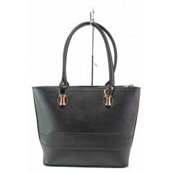 Стилна дамска чанта с класически дизайн / Съни 681-5 черен / MES.BG