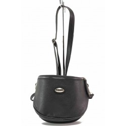 Бългатска дамска чанта за през рамо / Съни 002 черен / MES.BG