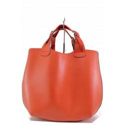 Дамска ежедневна чанта с органайзер и допълнителна дълга дръжка / Съни 518-5 червен / MES.BG