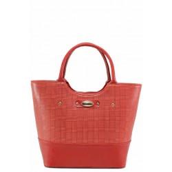 Стилна дамска чанта с релефна кожа / Съни 544-5 червен / MES.BG