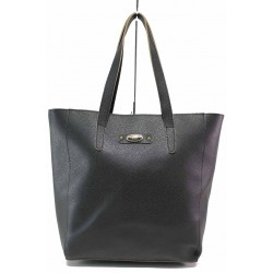 Удобна дамска чанта тип торба / Съни 637-5 черен / MES.BG
