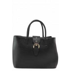 Дамска класическа чанта с акцент - катарама / Съни 745-5 черен / MES.BG