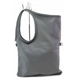 Дамска ежедневна чанта с прехлупване / Съни 8 сив / MES.BG
