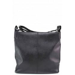 Голяма дамска чанта тип преметка / Съни 906-5 черен / MES.BG