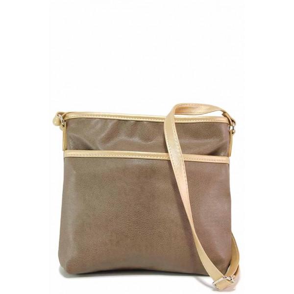 Дамска ежедневна чанта за през рамо / Съни 661-5 св.кафе / MES.BG
