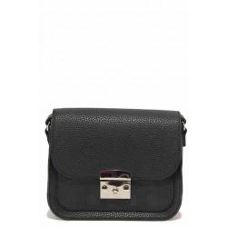 Дамска ежедневна чанта за през рамо / Съни 728-5 черен / MES.BG