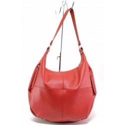 Дамска чанта с два странични джоба, торба / Съни 948-5 червен / MES.BG