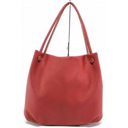 Стилна дамска чанта с изчистена визия / Съни 685-5 червен / MES.BG