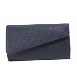 Изчистен модел вечерна дамска чанта тип портмоне / Съни 563 син / MES.BG