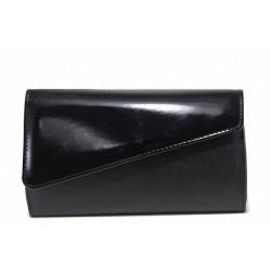 Вечерна дамска чанта тип портмоне / Съни 15 черен / MES.BG