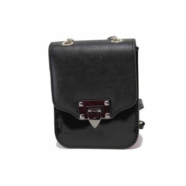 Малка дамска чанта за през рамо / Съни 733-5 черен / MES.BG