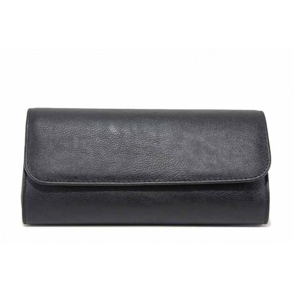 Вечерна дамска чанта тип портмоне / Съни 571 черен / MES.BG