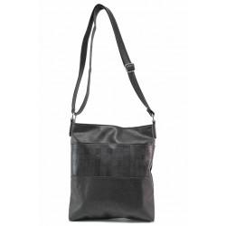 Българска дамска чанта за през рамо / Съни 661-5 черен / MES.BG