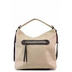 Ежедневна дамска чанта тип торба / Съни 588 бежов / MES.BG