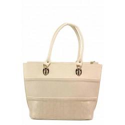 Дамска чанта с удобно вътрешно разпределение / Съни 605-5 бежов / MES.BG