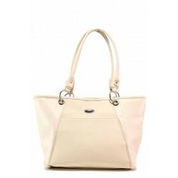 Дамска чанта с удобно вътрешно разпределение / Съни 501-5 бежов / MES.BG
