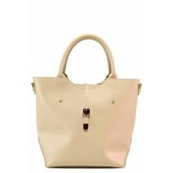 Дамска ежедневна чанта с интересно закопчаване / Съни 997-5 бежов / MES.BG
