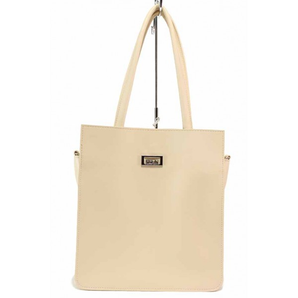 Ежедневна дамска чанта в актуален за сезона цвят / Съни 713 бежов / MES.BG