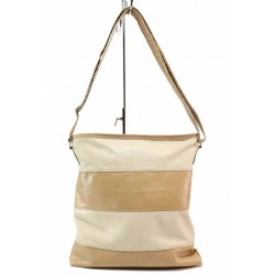 Дамска ежедневна чанта в двуцветна комбинация / Съни 38 бежов / MES.BG