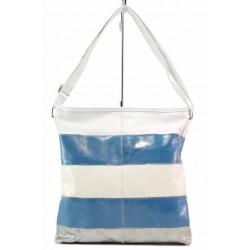 Дамска ежедневна чанта за през рамо / Съни 22 бял-син / MES.BG