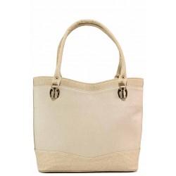 Стилна дамска чанта с изчистен дизайн / Съни 5555 бежов / MES.BG
