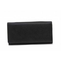 Дамско портмоне от релефна естествена кожа / Съни 73-2 черен / MES.BG