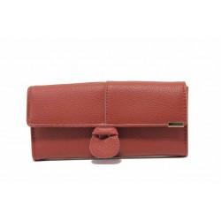 Функционално дамско портмоне с удобно разпределение / Съни 602 червен / MES.BG