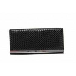 Функционално дамско портмоне с удобно закопчаване / Съни 74-2 черен / MES.BG