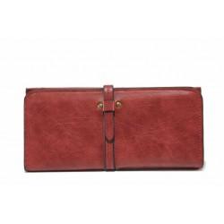 Функционално дамско портмоне с нестандартно закопчаване / Съни 74-8 червен / MES.BG