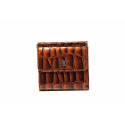 Функционално дамско портмоне, ''кроко'' мотив / Съни 74-10 кафяв / MES.BG