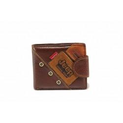Мъжки портфейл от естествена кожа / Съни 934 кафяв / MES.BG