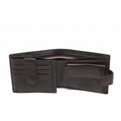 Функционален мъжки портфейл от естествена кожа / Съни 7000-44 кафяв / MES.BG